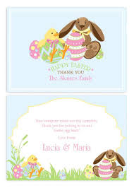Thank You Easter Easter Party Personalised Thank You Postcards Australias