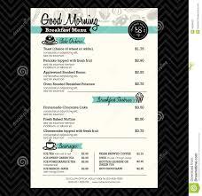 Menu Designs Restaurant Breakfast Menu Design Template Layout Stock Vector