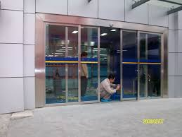 corrosion protection automatic sliding smart glass door