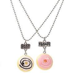 images gallery sunshine 2pcs children best friends cute resin donuts pendants chain necklace