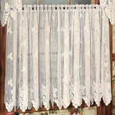 Kitchen Curtains With Grapes Vineyard Grapes Lace Window Treatment