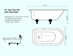 clawfoot tub dimensions. Clawfoot Tub Dimensions View A Schematic Here Shower Curtain Length L