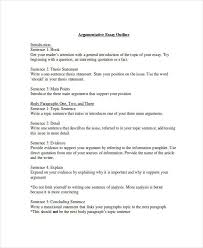 essay in doc argumentative essay outline