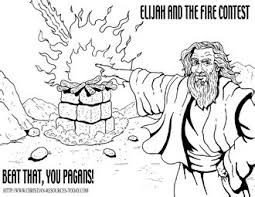 Top 15 firefighter coloring pages for preschoolers: Baal Elijah Bible Coloring Pages Drone Fest