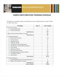 new hire training plan template. new employee training schedule