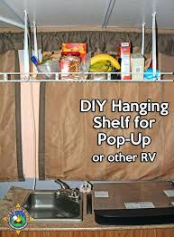 simple hanging shelf for a pop up camper make this display shelves