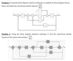 block diagram reduction problems and solutions the wiring diagram problem 1 using the block diagram reduction techn chegg block diagram