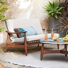 west elm patio furniture. Interesting Furniture Mid Century Outdoor Show Wood Loveseat 53 West Elm For Furniture Idea 0 In Patio