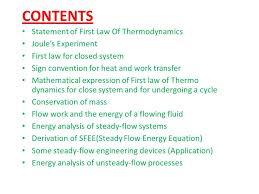 100110119055 first law of thermodynamics 2 contents