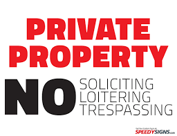 sale signs printable free private property no soliciting loitering trespassing