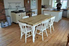 farmhouse table with bench design