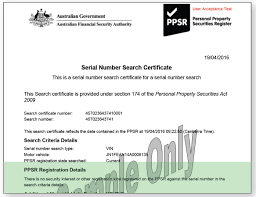 understanding motor vehicle search results ppsr sample search certificate no outstanding debt