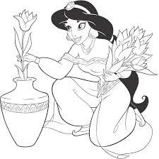 Extraordinary Design Free Printable Princess Jasmine Coloring Pages