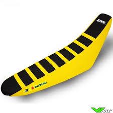 seat cover blackbird zebra black yellow suzuki rm125 rm250