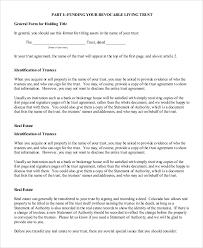 florida living trust template. funding-revocable-living-trust-form florida living trust template i