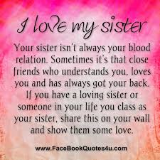 Inspirational Quotes For Sisters Gorgeous Love My Big Sister Quotes Amusing Quotes About Sisters You Love
