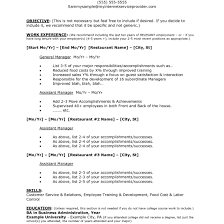 Restaurant Supervisor Job Description Resume Restaurant Objectives For Resume Therpgmovie 47