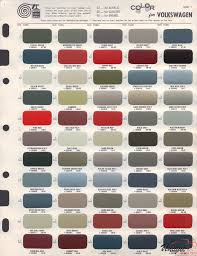 Vw Chart Volkswagen Paint Chart Color Reference