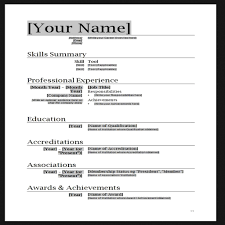 Resume Format Word Document Free Download Amazing Minimalist Resume Template Word Free With Resume Format In
