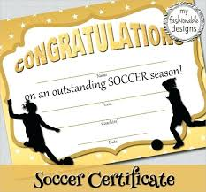 Free Soccer Certificate Templates Templates Free Printable Certificates Soccer Certificate