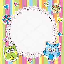 frame with owls — stock vector © redcollegiya