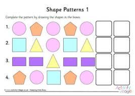 Shape Patterns Unique Pattern Worksheets