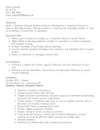 Production Planning Resume Perfect Resume