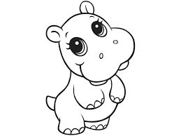Hippo Outline Drawing At Getdrawings Com Free For Personal Use