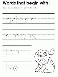 preschool letter l worksheets e