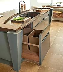 I Kitchen Garbage Can Cabinet For Pull Out  Under Sink Dumbfound Trash Bins Both