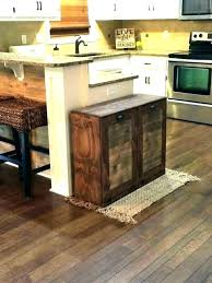 rustic trash can wooden holder for kitchen cans or cabinet bin ca diy garbage outdoor storage