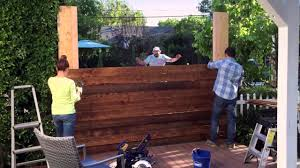 Small Picture DIY Privacy Fence Lowes Hypermade YouTube