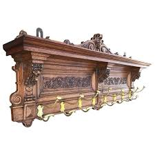 Antique Coat Rack For Sale Adorable Large Antique And Quality Carved Wooden And Cast Bronze Wall Coat