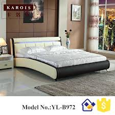 Splendid Faux Leather Bedroom Set Furniture Chairs Azure Black White ...