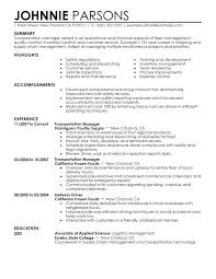 Supply Chain Management Resume Gorgeous Resume Summary Examples Logistics Manager And Logistics Manager