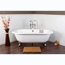 White Cast Iron Double-ended 66-inch Clawfoot Bathtub - Free Shipping Today  - Overstock.com - 15357855