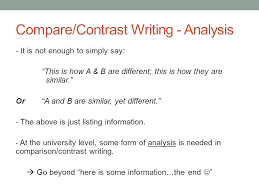 fundamentals of writing today compare contrast writing 4 compare contrast