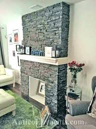 refacing brick fireplace with stone fireplce refce stacked