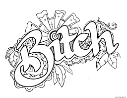 Coloring Pages Bitchar Word Coloring Pages Printable And