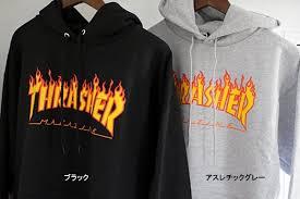 vans thrasher hoodie. thrasher magazine (thrasher magazine) firelogoswettopaca 2 color #113102/flame logo hood vans thrasher hoodie i