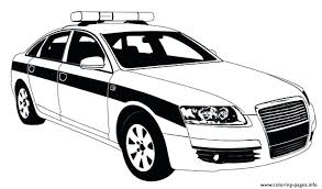 Police Car Coloring Pages Printable Water Transportation Coloring