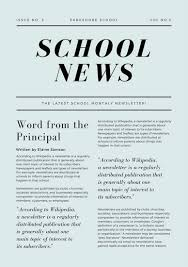 Green Simple Article School Newsletter Templates By Canva
