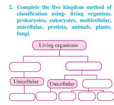 plete the five kingdom method of