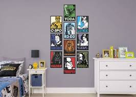 wall decals canada free awesome star wars portraits collection ficially licensed star wars