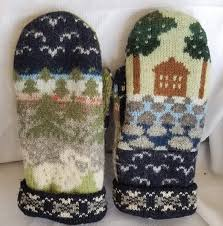 Felted Wool Designs Amazon Com Icelandic Design Wool Sweater Mittens Recycled