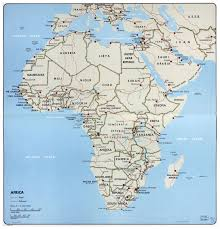Large political map of Africa – 1968. Africa large political map – 1968 |  Vidiani.com | Maps of all countries in one place