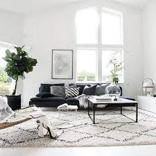 Plant Interior Design Impressive Scandinavian Style Living Room With Clean White Walls Grey Sofa