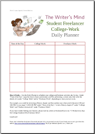 daily planner for college students who lance balance a planner to help you balance coursework writing for clients