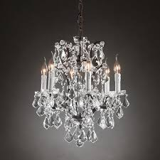 iron clear crystal round chandelier 18