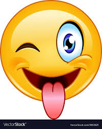Stuck Out Tongue And Winking Eye Emoticon Vector Image